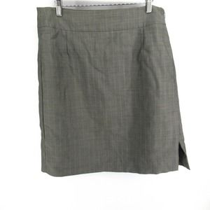 Hugo Boss Silk Mohair Wool Plaid Pencil Skirt